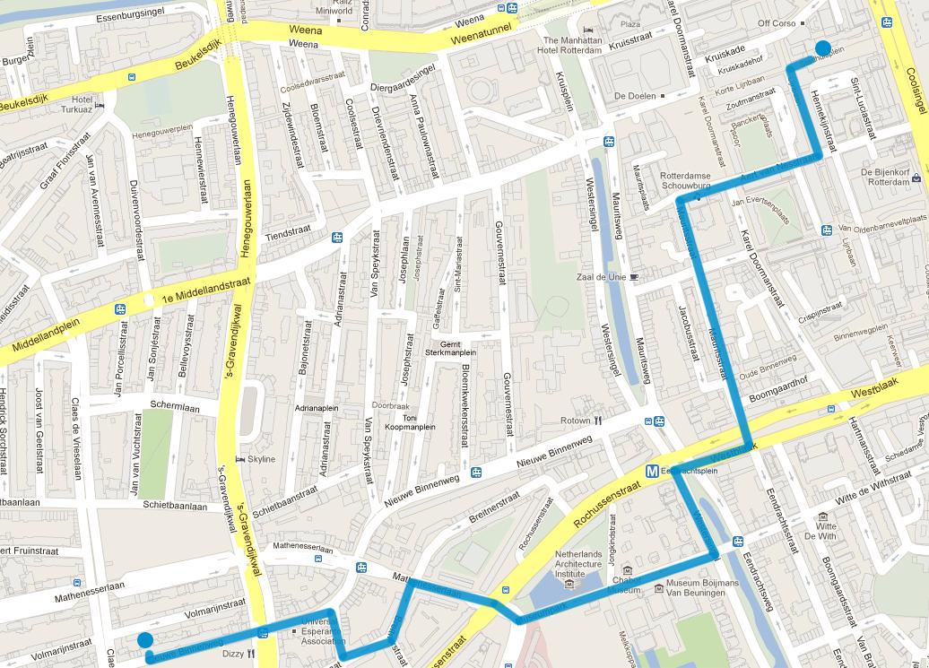 route Instagram walk Rotterdam 010