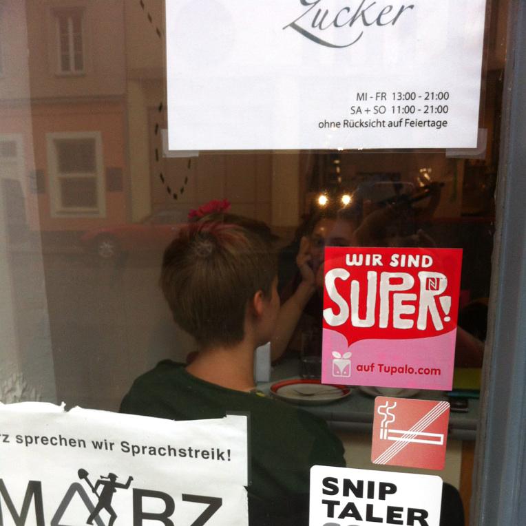 Tupalo.com business window sticker