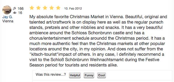 Kultur- und Weihnachtsmarkt Schloss Schönbrunn review by Jay G.